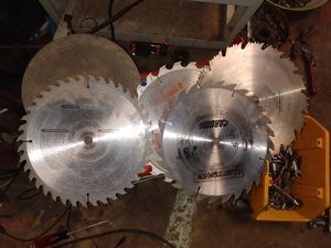 Practically new chop saw blades all together for Sale in Oklahoma City, OK