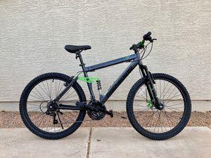 Genesis Adult 26 inch Mountain Bike Full Suspension Disc Brake Shimano 21 Speed New for Sale in Mesa, AZ