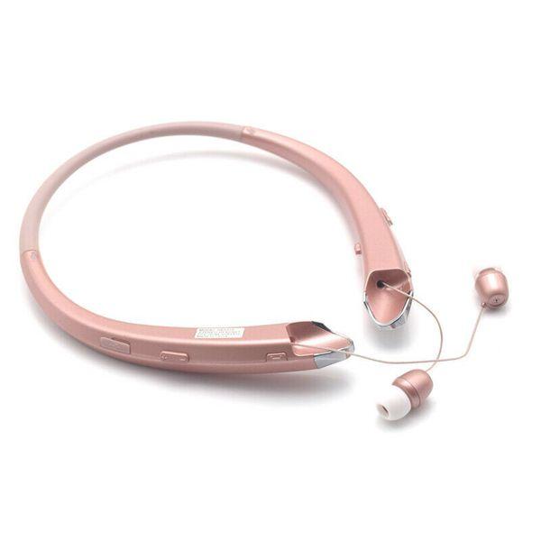 Bluetooth Headset Sport Stereo Wireless Headphone Earphone for iPhone Samsung Rosegold (sportheadphone-rosegold-USA)