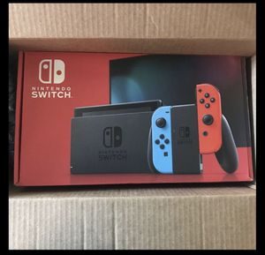 Brand New NINTENDO SWITCH Blue & Neon Red Joy Con for Sale in Fresno, CA