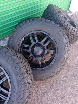 """18"""" off road wheels and BFGoodrich tires for Sale in Las Vegas, NV"""