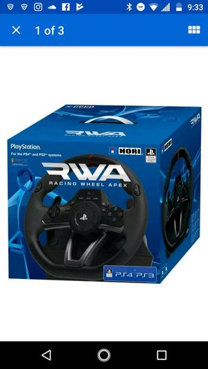PS4 hori racing wheel for the PS4 and the PS3 for Sale in Biscayne Park, FL