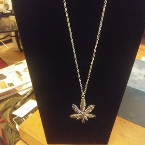 Gold tone 420 Marijuana Necklace for Sale in Concord, MA