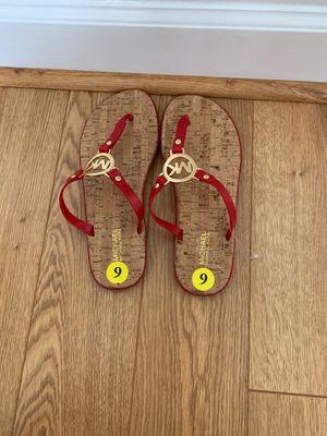 Red Michael Kors flip flops for Sale in Atlanta, GA