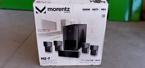 Morentz Audio M-7 Platinum Series 5.1 HD Home Theater System HDTV MP4 Pro Model for Sale in Phoenix, AZ