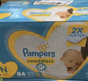 Newborn pamper 84ct diapers for Sale in Houston, TX