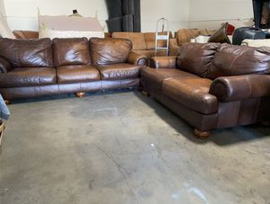 Genuine Leather Sofa and Loveseat for Sale in Glendale, AZ