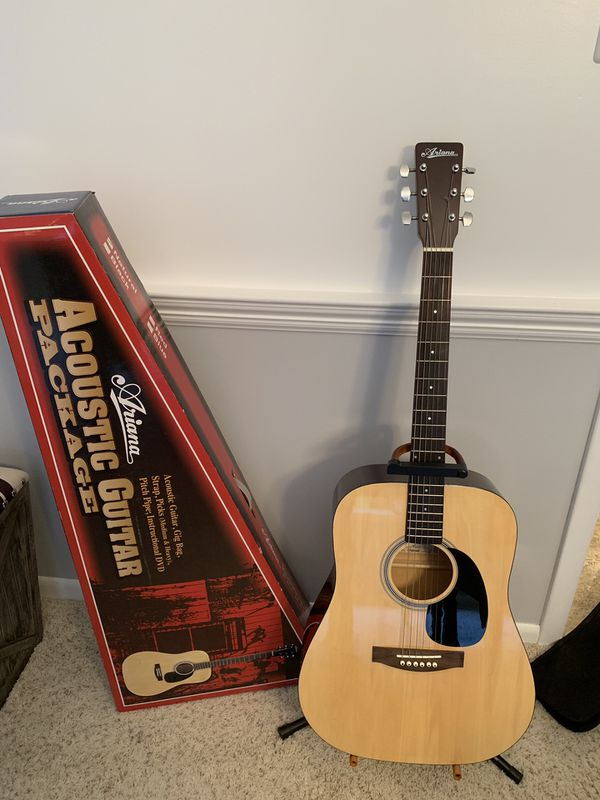 Ariana Acoustic Guitar Music Package NEW