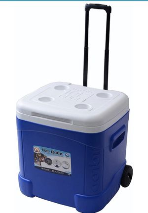 Igloo Ice Cube Roller Cooler (60-Quart, Ocean Blue) for Sale in Rancho Cucamonga, CA