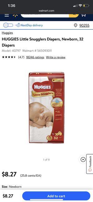 Newborn diapers for Sale in Cudahy, CA