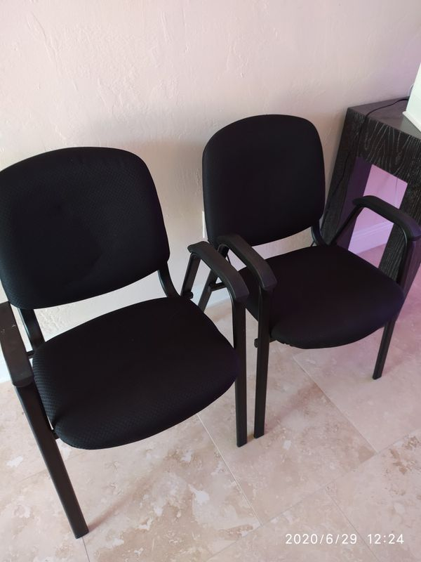 Office chairs w/arms set of two.