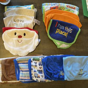 Baby Boy Bib And Burp Cloths for Sale in McFarland, WI