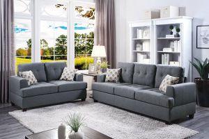 Grey Sofa + Loveseat for Sale in Fresno, CA