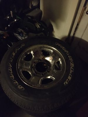 Good year wrangler, 4 tires, rims and wheels. for Sale in Vancouver, WA