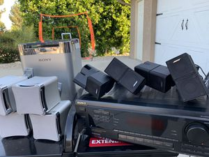 SONY Receiver STR-DE505 BOSE Speakers and Sony Subwoofer for Sale in Upland, CA