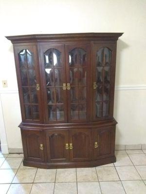 Pennsylvania House Cherry lighted China Cabinet for Sale in North Chesterfield, VA