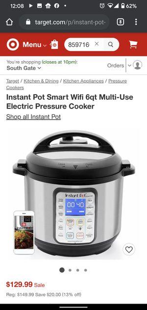 Instant Pot Smart Wifi 6qt Multi-Use Electric Pressure Cooker for Sale in Huntington Park, CA