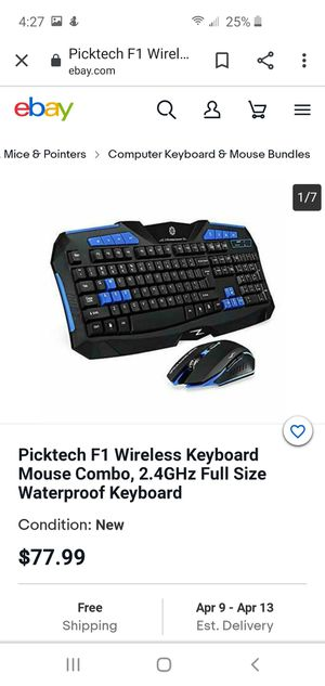 F1 wireless keyboard and gaming mouse for Sale in Murrieta, CA