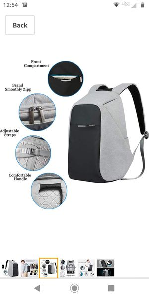 """Oscaurt Gray Anti-Theft backpack School Travel Bag fits 15.6"""" laptop for Sale in Victorville, CA"""