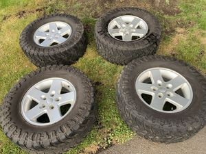 """Jeep Gladiator 17 """" wheels and mud tires Atturo Trail Blade 33"""" tires. for Sale in Puyallup, WA"""