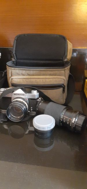 Konica Autoreflex A wide lens and macro for Sale in Horseheads, NY