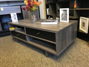CMC Coffee/ Center Table, Distressed Grey and Black for Sale in Santa Ana, CA