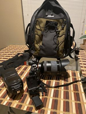 Sony A7S with lens,batteries,flash , and bag for Sale in Tampa, FL