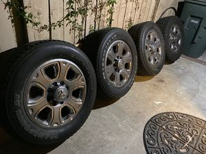 20 in Ram Aluminum Wheels with Tires for Sale in Corona, CA