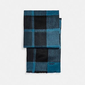 COACH CASHMERE BLEND PLAID SCARF for Sale in Portland, OR