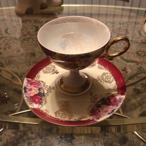 Antique Teacup And Saucer With Luster Color Inside for Sale in Little Silver, NJ
