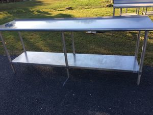 Stainless Steel Table w Vegetable Slicer Mount and Undershelf for Sale in Dillsburg, PA