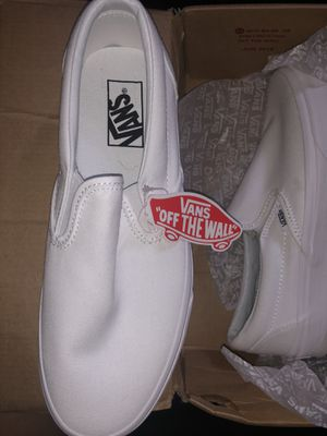 Slip On Vans (White) sz 7.5 Men , 9 Women for Sale in Monaca, PA