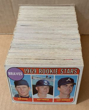 1969 Topps baseball Cards Set of 217 Different cards with lots of high numbers for Sale in Brea, CA