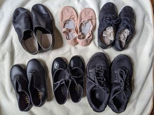 Girls Dancing Shoes Black BLOCH Dance Sneaker Jazz Boots Tap Shoes 4-8T for Sale in Alpharetta, GA