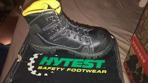 HyTest Safety Steel toe boots ( NEW) Mens for Sale in Donna, TX