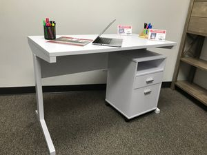 NEW, Alexandria Student Desk with File Cabinet, White Finish, SKU# 151179-151180 for Sale in Garden Grove, CA