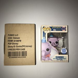 Disneyland 65th Anniversary Dumbo Funko Pop! Limited Edition !!!!! for Sale in Portland, OR
