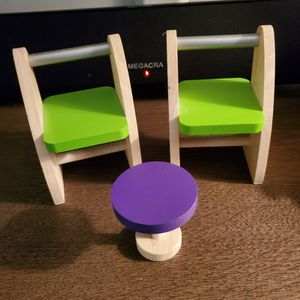 Wooden Chairs And Table Doll Accessories for Sale in Allen Park, MI