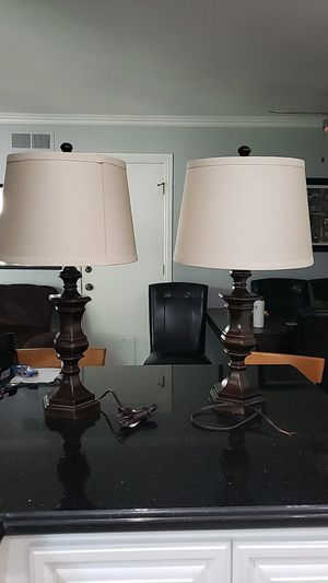 Pair of Lamps with Lamp Shades #please read description# for Sale in Chula Vista, CA