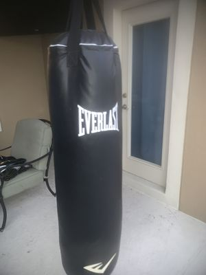 Everlast Punching Bag with practice and boxing gloves for Sale in Winter Garden, FL