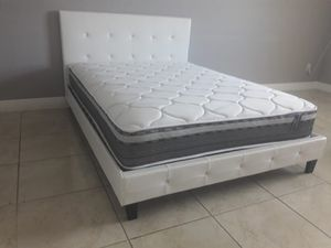 New queen bed frame and mattress included for Sale in Hialeah, FL