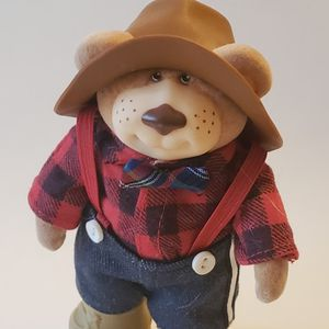 Cute!! So Cute! Plaid Bear In Jeans And Work Boots. for Sale in Southington, CT