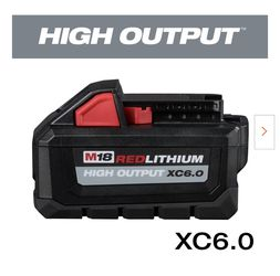 Milwaukee M18 18-Volt Lithium-Ion High Output Battery Pack 6.0Ah. for Sale in Happy Valley,  OR