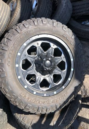 Jeep Wrangler wheels rims tires for Sale in Los Angeles, CA