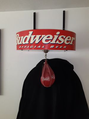 Budweiser punching bag boxing beer collectable RARE!!! for Sale in Riverside, CA