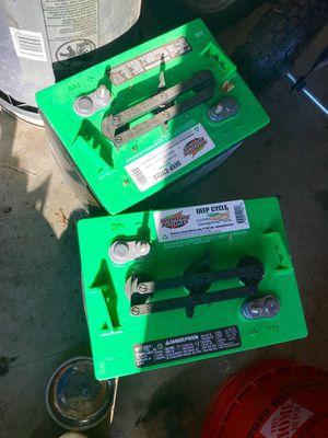 (2) Interstate 6v golf cart batteries for Sale in Aylett, VA