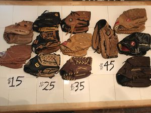 Discounted Baseball Gloves ($15-$45) for Sale in Decatur, GA