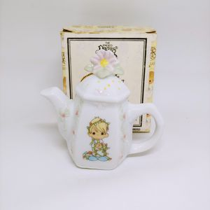 Vintage 1994 PRECIOUS MOMENTS Boy With Lights TEAPOT SHAPED HANGING ORNAMENT 340324L for Sale in Miramar, FL