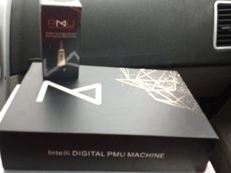 Permanent Tattoo Machine Intelli DIGITAL PMU MACHINE WITH ADDITIONAL 10 CT 1rl0.35 mm. SAFETY CARTRIDGE NEEDLES for Sale in Granite City,  IL