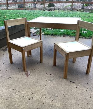 IKEA table children and two chairs for Sale in Manassas, VA